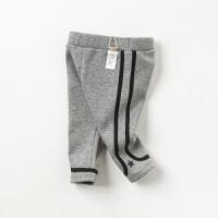 [领��400减80]【加绒】davebella戴维贝拉2019冬季新款男童保暖休闲长裤DB12061