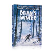 英文原版小说 Brian's Winter手斧男孩3:一个人的冬天 10岁以上 儿童小说 文学书 Gary Pauls