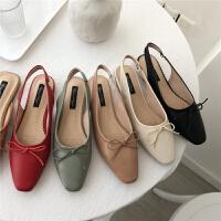 春季基础款尖头平底鞋浅口单鞋平跟软底舒适工作鞋女
