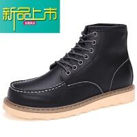 新品上市真皮靴子情侣马丁靴低帮潮男短靴英伦高帮鞋复古工装靴夏季男靴子