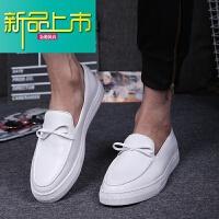 新品上市男鞋潮鞋19春季新款个性韩版潮流懒人鞋男社会百搭豆豆鞋男