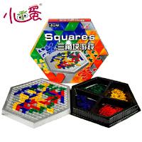 小乖蛋三角块游戏六角形角斗士格斗四人版儿童益智力亲子桌游玩具