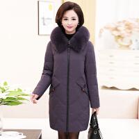 中年女冬装中长款羽绒棉衣40岁50妈妈时尚外套中老年冬季棉袄