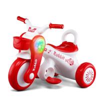 儿童电动三轮车摩托车可坐人三轮电动车带音乐灯光小孩玩具车3-6岁