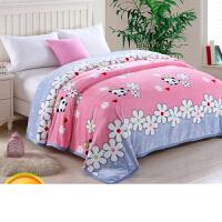 冬季法兰绒毛毯被子珊瑚绒毯子加厚双人单人学生宿舍儿童保暖床单k