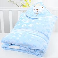 婴儿抱被秋冬加厚外出初生新生儿包被可脱胆宝宝抱毯春秋冬天