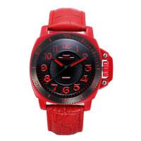 时尚大表盘男表皮带手表 防水真皮男士手表 韩版潮流个性学生腕表