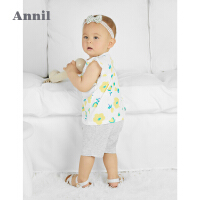【1件5折价:89.5】安奈儿童装女童夏季套装2021新款宝宝短袖上衣短裤两件套全棉A类