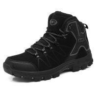 冬季中老年人户外棉鞋女高帮运动鞋加绒加厚保暖雪地靴滑健步