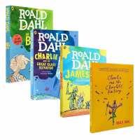 全店满300减100】英文原版 Roald Dahl 罗尔德系列4册 Charlie and the Chocolate