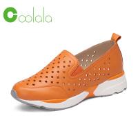 红蜻蜓旗下品牌COOLALA 春季新款 运动鞋女 镂空透气休闲平底女鞋