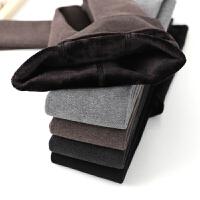 高腰打底裤女内穿加绒加厚款灰色外穿显瘦紧身黑色保暖棉裤秋冬季