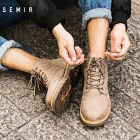 Semir男士马丁靴2019冬季新款时尚潮流休闲马丁靴男士