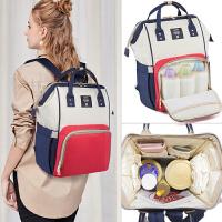 妈咪韩版双肩包女多功能母婴包手提宝妈大容量背包书包妈妈外出包