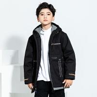 【券后�A估�r:191元】男童�b洋�饽型�中大童中�L款棉衣2020新款�和�羽�q棉服外套2056