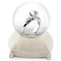 生日礼物女生 仿水晶球520礼物结婚摆件男送女朋友老婆闺蜜女友创意礼品 水晶玻璃球 戒指