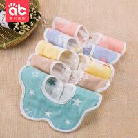 夏季薄款口水巾围兜婴儿棉口水巾宝宝围嘴360度可旋转