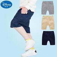 迪士尼童装男童短裤夏季宝宝裤子男娃娃五分裤薄款儿童中裤棉质夏