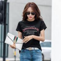 夏季新款韩版休闲修身显瘦女圆领印花T恤