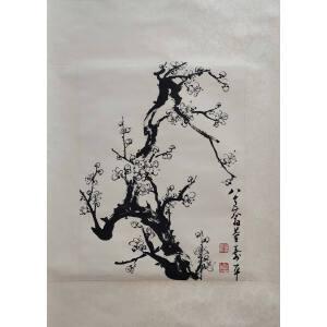 董寿平 天才画家,德艺双馨 立轴 经典国画作品