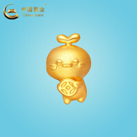 中国黄金《长草颜团子》吉祥系列聚财团子硬金吊坠