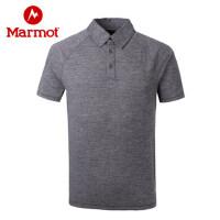 Marmot/土拨鼠春夏针织短袖T恤男士超轻速干Polo衫