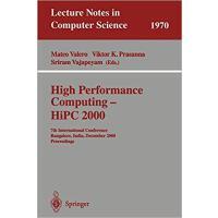 【预订】High Performance Computing - HiPC 2000 9783540414292