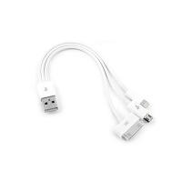 多功能数据线 苹果5S 三星S4 iPhone4S USB三合一 多头手机充电器