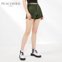 牛仔短裤女2019夏季新款直筒裤宽松时尚性感热裤单排扣太平鸟女装