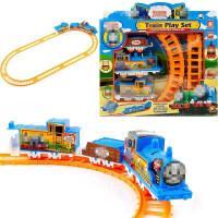 儿童生日礼物小火车头装仿真电动轨道赛车玩具 轨道 标配