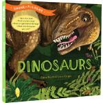 英文原版绘本 Shine A Light : Dinosaurs 恐龙 光影魔术书 手电筒透光精装书 亲子互动共读图画