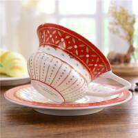 下午茶创意宫廷咖啡杯碟 陶瓷茶具 红桃皇后