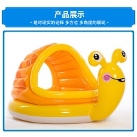 intex可喷水宝宝戏水池 带滑梯鳄鱼充气泳池 儿童爬行池捞 鱼池