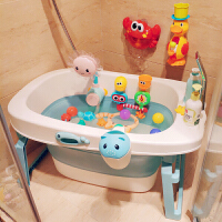 家用婴儿浴盆大号宝宝洗澡桶小孩泡澡可坐躺儿童折叠浴桶