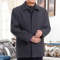 潮牌热推 70岁60爸爸装春秋装保暖大码风衣外套中老年人冬季80老人爷爷毛呢大衣