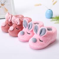 一家三口亲子棉拖鞋棉鞋儿童冬男童女童可爱防滑保暖秋冬款