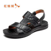 红蜻蜓男鞋凉拖鞋夏季英伦软底舒适休闲男凉鞋沙滩鞋
