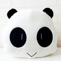 午睡枕毛毯趴睡枕汽车学生可爱三合一桌上靠垫被熊猫抱枕被子两用