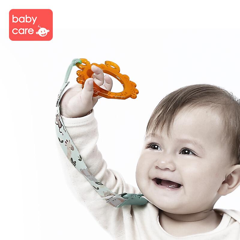 【2件5折】babycare 婴儿牙胶 宝宝磨牙棒 纳米银硅胶牙胶 宝宝咬咬乐无异味