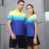 短袖羽毛球服套装男女POLO款舒适透气运动训练网球服
