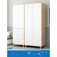 【支持礼品卡】北欧衣柜子两门简约现代经济型组装家用实木板式小户型简易挂衣橱3rb