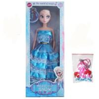 冰雪奇缘娃娃玩具公主洋娃娃芭芘礼盒套装艾莎安娜礼物单个 蛋糕裙-