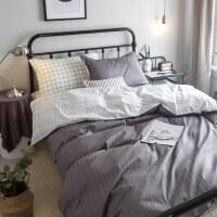 棉宿舍床单人三件套1.2米床上用品大学生寝室儿童被套被罩女1.5y