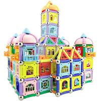 磁力棒玩具儿童磁铁拼装积木片4,5,6,7,8-12岁吸铁磁棒
