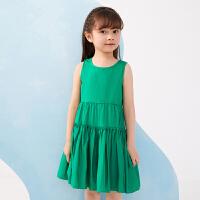 【秒杀价:210元】马拉丁童装女童连衣裙夏装2020新款抽褶拼接分割线设计背心连衣裙