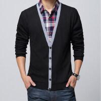 青年加绒加厚男士长袖T恤潮男士加肥加大码衬衫领t恤打底衫