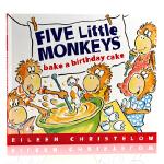 五只小猴子系列Five Little Monkeys Bake a Birthday Cake 小猴子做生日蛋糕 英文