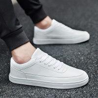 冬季白色板鞋男鞋韩版潮流保暖休闲鞋男士百搭小白鞋子男