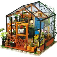 若态艺术屋凯西花房DG104 3D艺术屋学生礼物立体拼图木质模型女孩玩具屋少女房子手工制作DIY小屋儿童益智