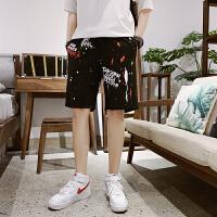 男士短裤花裤子夏季韩版潮流宽松休闲五分裤学生帅气个性沙滩中裤